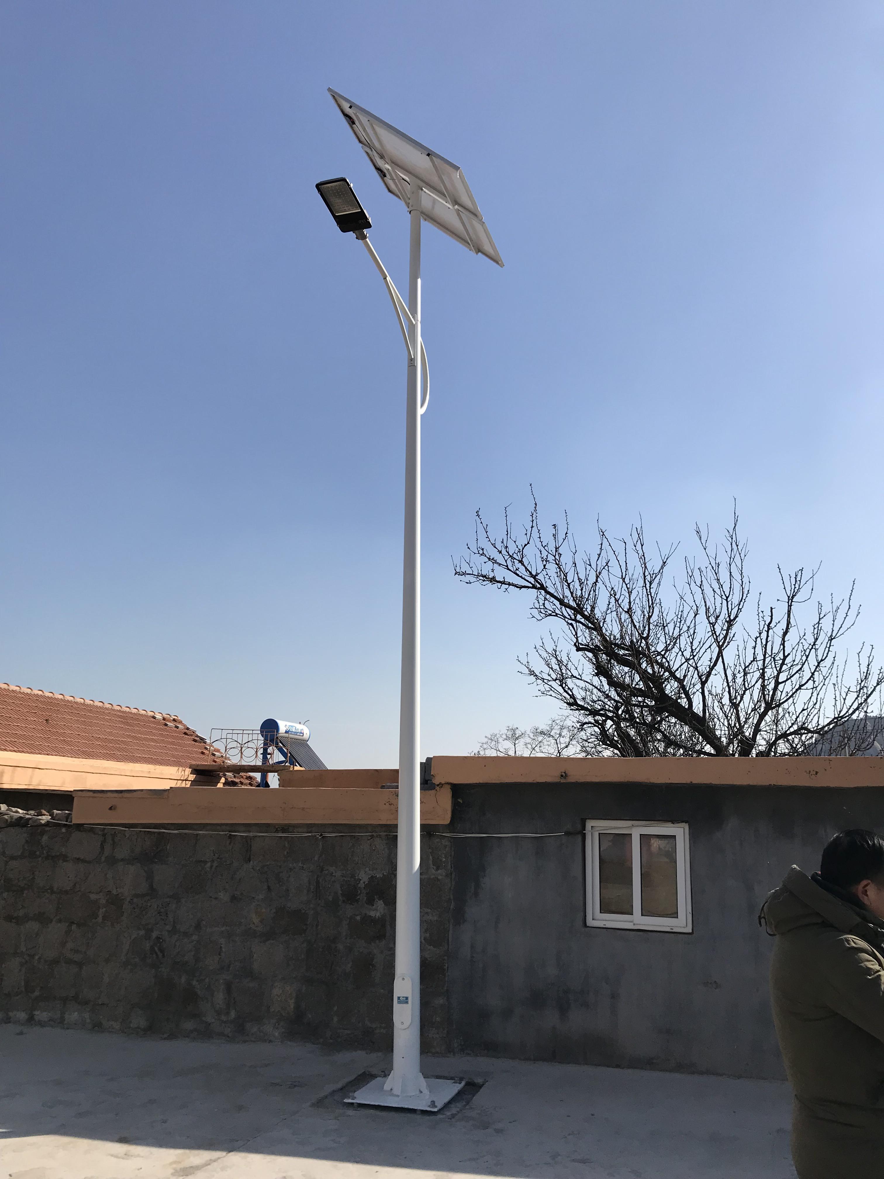 青岛王哥庄街道西山社区太阳能路灯项目